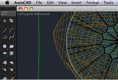 AutoCAD for Mac obrazovka