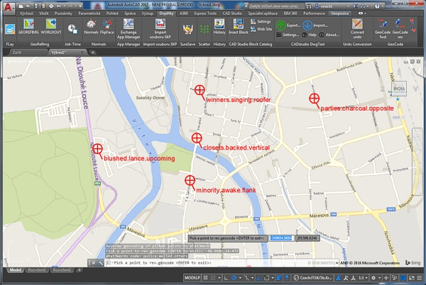 GeoCode - geocoding and reverse geocoding for AutoCAD